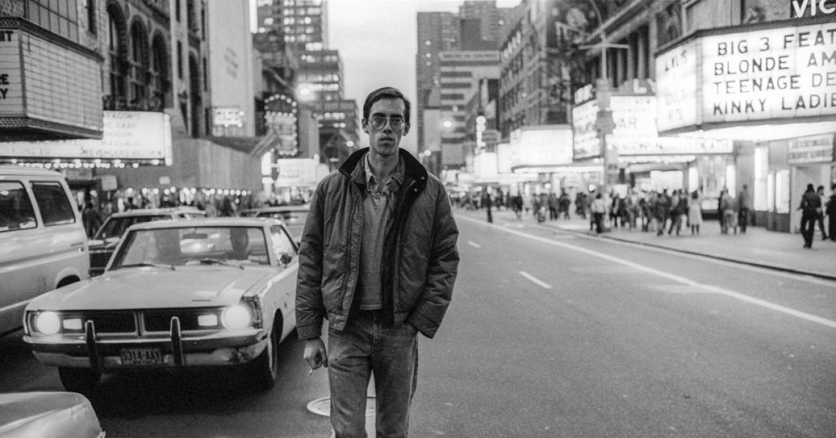 Wojnarowicz on 42nd Street, New York, December 1983