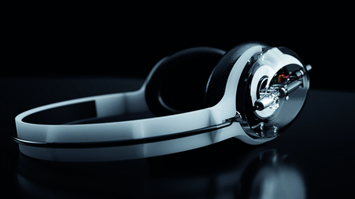 Headphones designed by student Toby Hacker