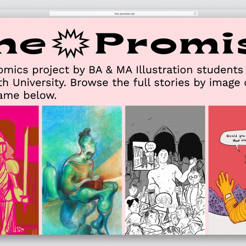 screenshot of The Promise website
