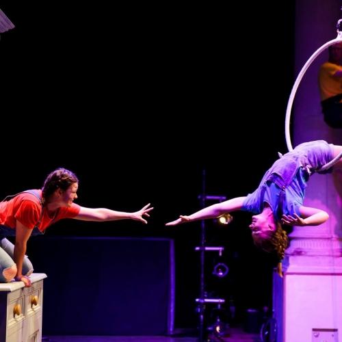 Dancers on stage performing