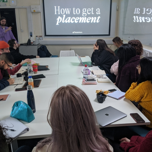 Creative advertising students hear from guest speaker