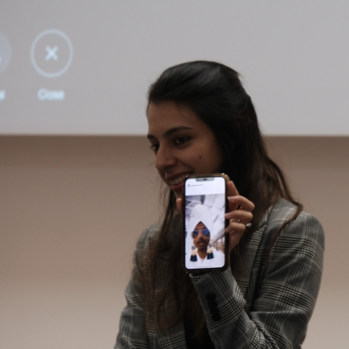 Sumaiya Omar speaking with Yusuf Omar joining the session on Snapchat