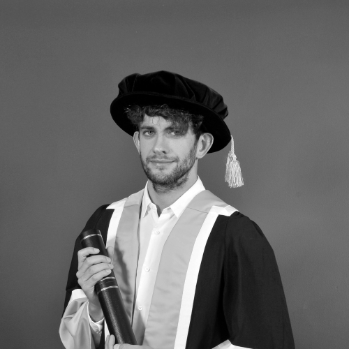 Falmouth fellow Alex Turvey in academic down.