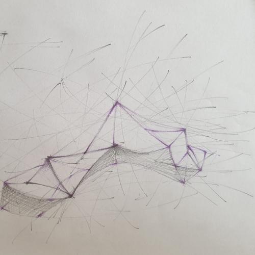 Geometric drawings on paper