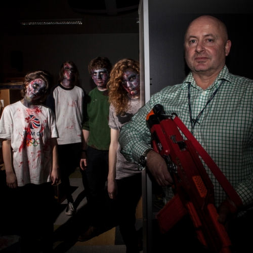 Participants dressed as zombies at Immersive Zombie Experience