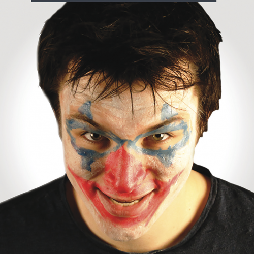 Man with scary facepaint