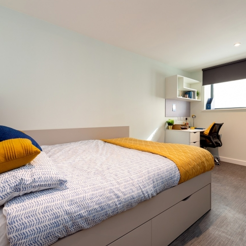 Double bed and a window