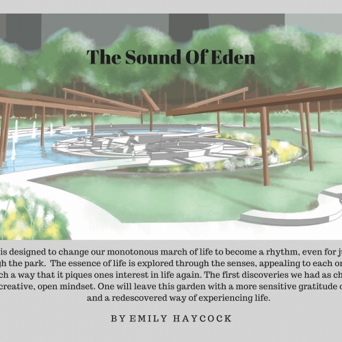 Presentation slide with 'The Sound of Eden'