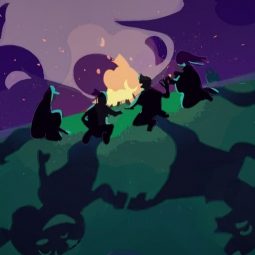 Screenshot from the animation - campfire