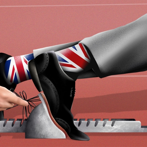 'Race To Replace Mark Carney' illustration by graduate Jake Hawkins