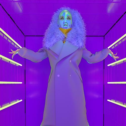 Digital clothing image of long coat