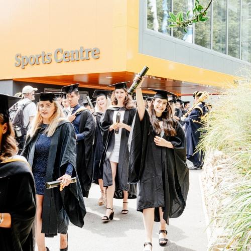 Students graduating