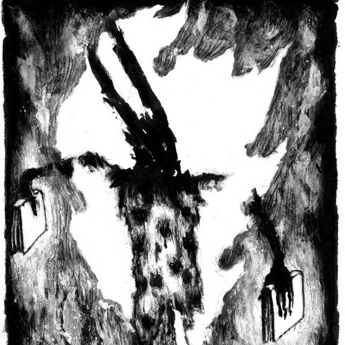 Illustration of hare holding books