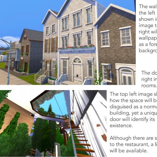 Presentation slide with buildings