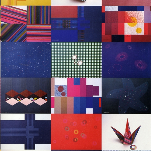 different origami patterns in rectangles