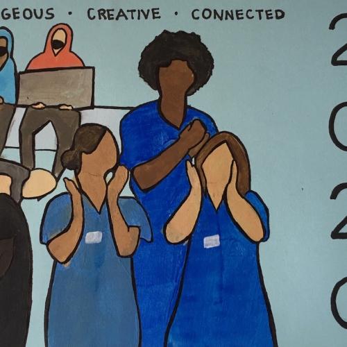 Illustration of nurses clapping