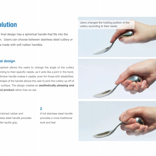 Guide to using specially designed cutlery.