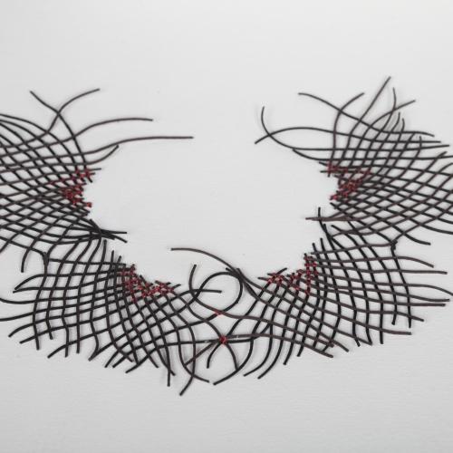 A lattice threaded neck piece.