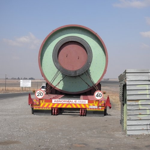 Back of a large circular lorry