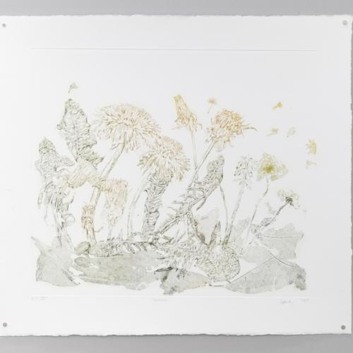 Intricate print of wildlife.