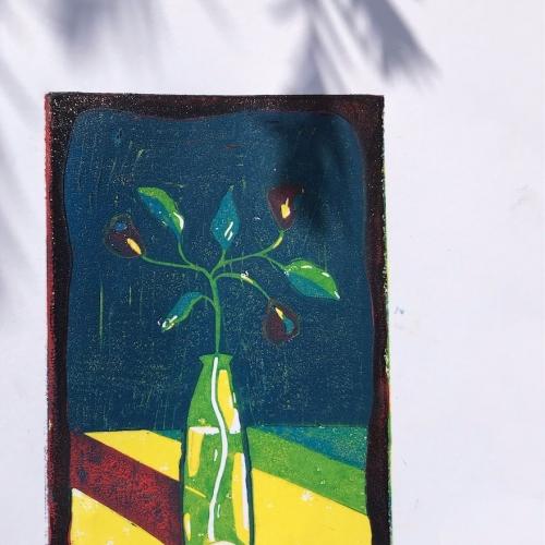 Illustration of a flower in a vase
