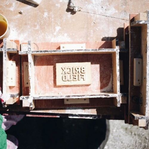 The mould for the Brickfield bricks
