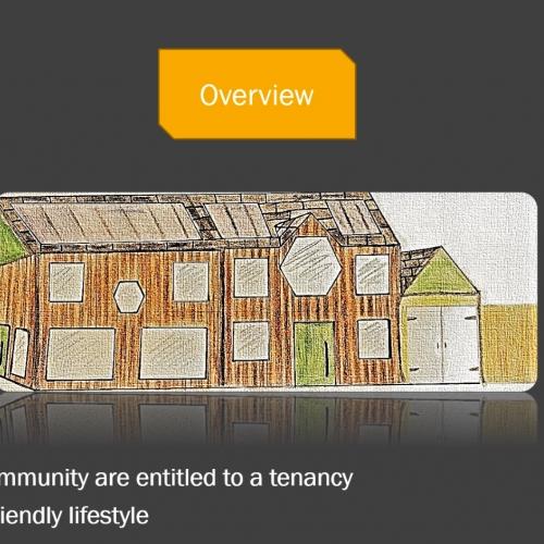 Presentation slide about a wellbeing scheme