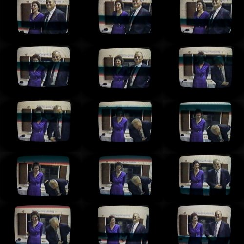 Multiple images of TV screens