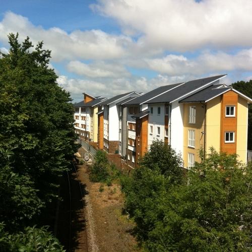 The Sidings building set amongst trees